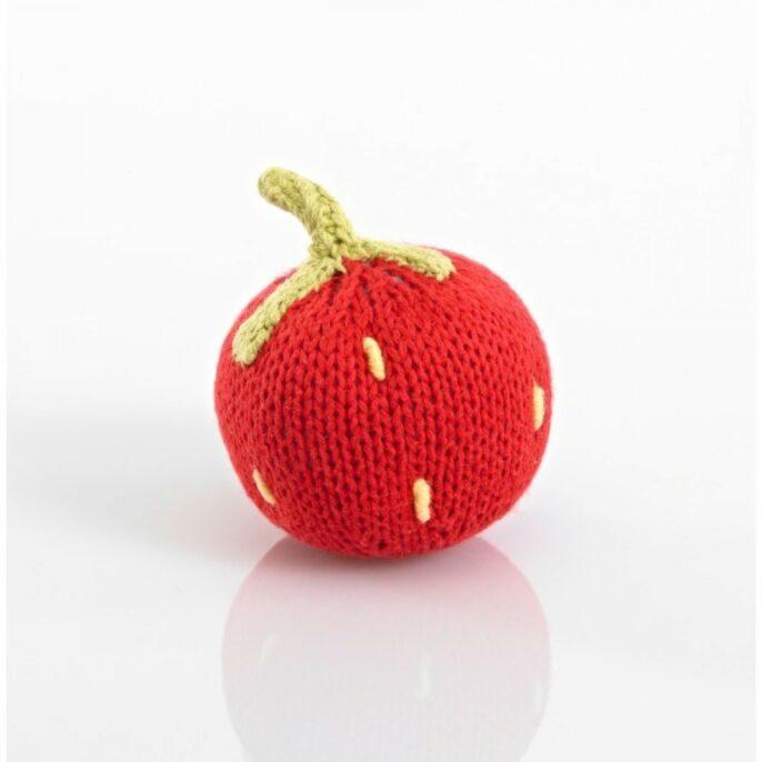 Pebblechild Strawberry Rattle