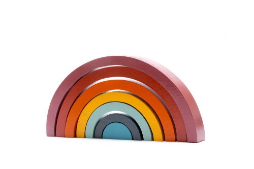 Best Years Wooden Rainbow Stacking Toy - Contemporary Colours