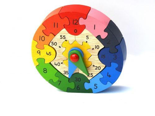 Best Years Wooden Rainbow Clock Puzzle