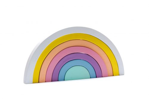 Best Years Wooden Rainbow Stacking Toy - Pastel Colours